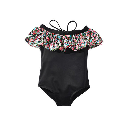 Fashionable Girls Swimsuit Kids One-Piece Swimwear Bathing Suit