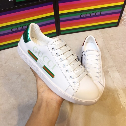 Gucci HOT new fashion leather women casual sports shoes