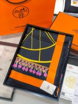 Hermes classic fashion top woman silk big square scarf