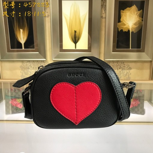 Gucci Fashion 457223Woman Handbag Shoulder Bag Camera Bag Leather