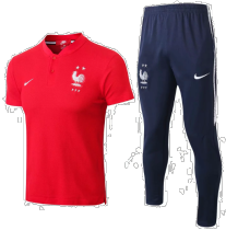 France 2018 Training Polo and Pants Red & 2 Stars