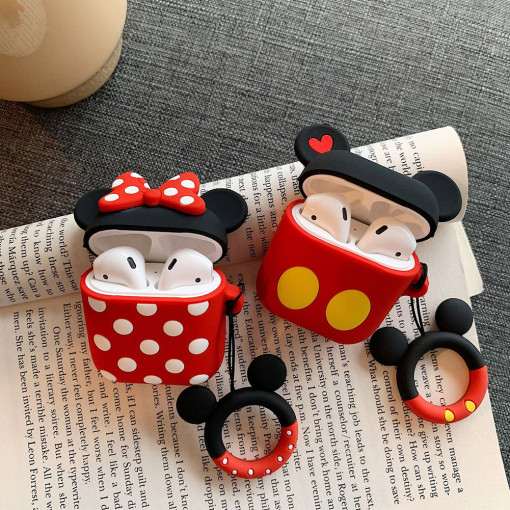 Cartoon Mickey Minnie Apple AirPods Silicone Bluetooth Headset Personality Creative Cover