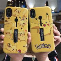 Pikachu Phone Case Ring Holder Kick Stand phone Case