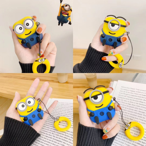 The Minions AirPods Case Bluetooth Wireless Earphone Silicon Protective Cover