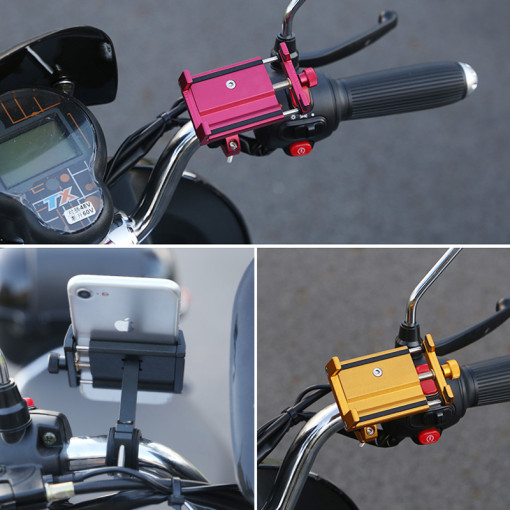 Aluminum alloy phone holder electric motorcycle bicycle shockproof fixed navigation mobile phone bracket
