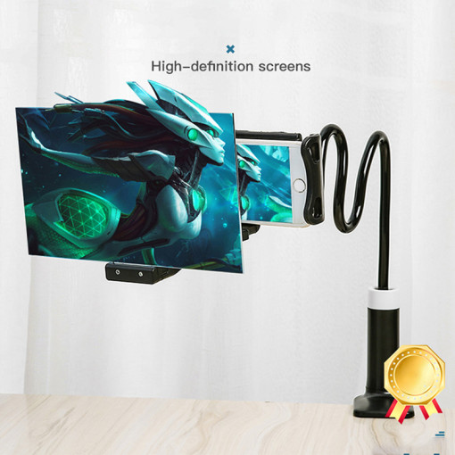 HD Video amplifier Flexible holder Enlarged Projector cell Phone Screen Magnifier Desktop Bracket
