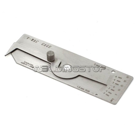 V-Wac Gage METRIC Biting Edge Undercut Welding inspection Gauge seam ulnar ruler