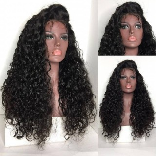 Lace Front Wig Curly Natural Color Human Hair For Black Women 100%  Human Hair