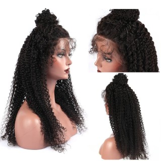 13*6 Lace Front Wig Kinky Curly Natural Color for Black Women
