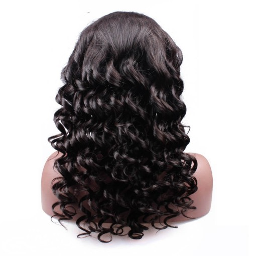 Wave Wigs 100% Human Hair Natural Color With Baby Hair