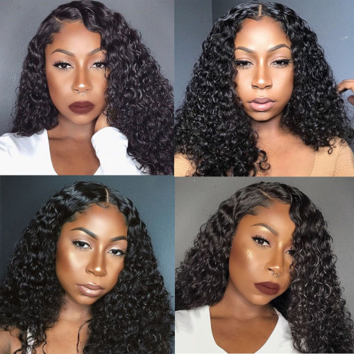 Curly 13x6 Lace Front Human Hair Wig Pre-Plucked Hairline 100% Human Hair