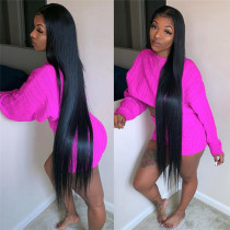 40 inch Full Lace Wig Straight style 100% Real Human Hair