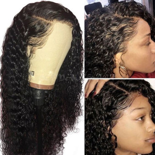 Loose Curly 360 Lace Wig Natural Color Human Hair For Black Women Brazilian