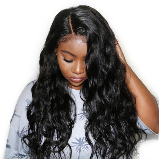 13*6 Lace Front Wig Body Wave Natural Color Human Hair For Black Women