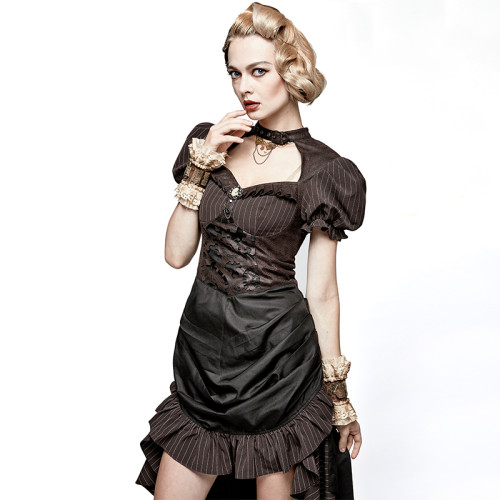 Steam Punk burn-out gear shape women's dress