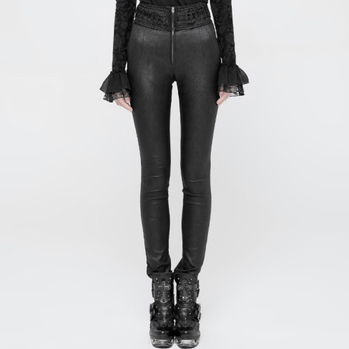 Gothic Jacquard Stretch High Waist Tight Pant