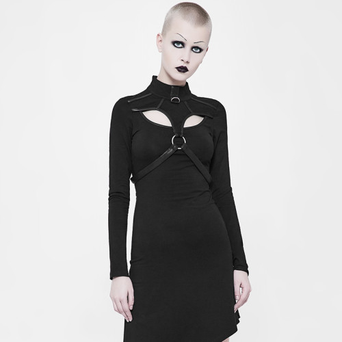 Punk Slant Hem Knit women's Dress