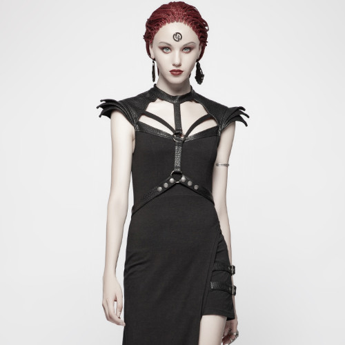 Punk Asymmetric Sexy women's Dress