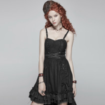 Steampunk Pleated Slim-fitting women's Dress