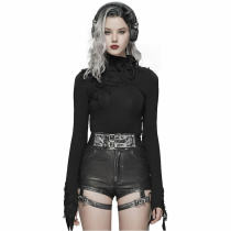 Punk Rave Handsome Punk PU Leather Shorts