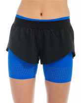 Yunfeng Light Blue Double Shorts