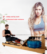 Commercial fitness water rowing machine