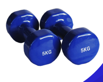 Rounded vinyl dipping dumbbell