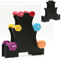 3 Tier Plastic Dumbbell Rack Storage Holder Household Gym Storage Tree Dumbbells