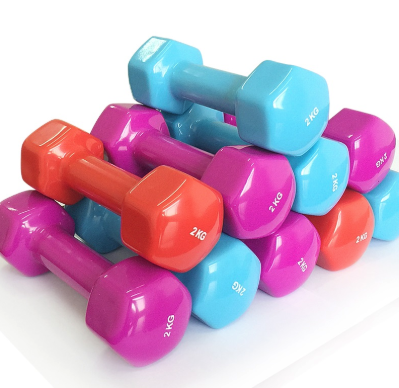 hexagonal vinyl dipping dumbbell