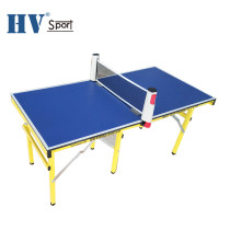 Factory direct folding12mm MDF board office game mini table tennis table