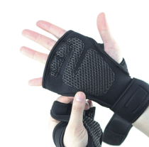 Silicone non-slip weight lifting fitness hand protector gym gloves
