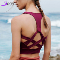 New sports underwear summer shockproof beauty back gathered bra professional running fitness yoga quick-drying beauty back bra