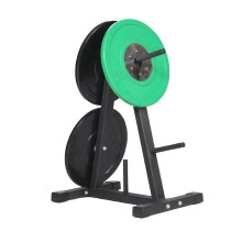 Cross training fitness equipment weight plate rack A-frame plate tree