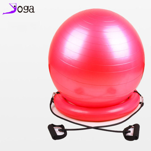 Hot sale yoga ball with base ball ring