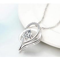 M 925 Sterling Silver Love Necklace【Cash On Delivery】