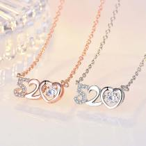 M 520 I Love You Lady Clavicle Necklace(COD)