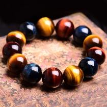 M Tiger Eye Stone Buddha Bracelet Bangle Trendy(COD)