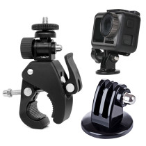 Motorcycle Mountain Bike Extended Mount Bracket Fixed Holder for DJI OSMO POCKET/OSMO ACTION/Gopro Camera