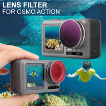 2Pcs Camera Lens Diving Filters for DJI OSMO Action Camera - Red + Purple