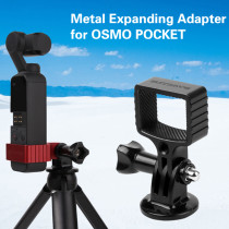 Metal Expansion Holder Adapter Stand Kit for Gopro and 1/4 Adapter for DJI Osmo Pocket - Black