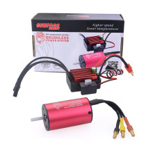 2845 3100KV Waterproof Sensorless Brushless Motor with 35A ESC for 1:12 RC Model Car - Black Red