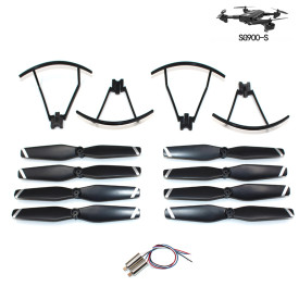 Original Parts Kit with 2Set Blades/1Set Protective Ring/1Pair Motor for SG900-S Foldable GPS Drone