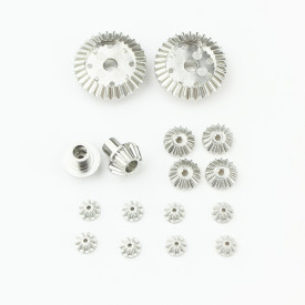 16Pcs 12T/24T/30T Upgraded Metal Parts Stainless Steel Gear Differential Drive Gear for WLtoys 12428/12423 RC Car