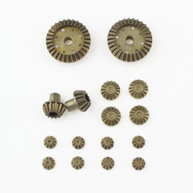 16Pcs 12T/24T/30T Upgraded Metal Parts Ferrous Alloy Gear Sintered Alloy Differential Drive Gear for WLtoys 12428/12423 RC Car