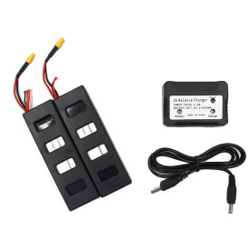 2PCS 7.4V 1800mAh Lipo Battery and 2 in 1 Battery Charger for MJX B3 BUGS Monster Quadcopter