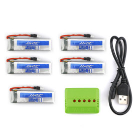 Spare Part 3.7V 500MAH Battery - 5 In 1 USB Charging Charger Set for JJRC H37(5 batteries)