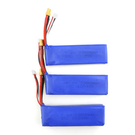 3 PCS 7.4V 2300MAH 35C Upgraded version Lipo Battery for MJX B6 BUGS Quadcopter Racing FPV Drone
