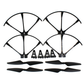 Drone Aircraft Parts Set Spare Propellers Guard Circle Short Landing Gear for MJX B3