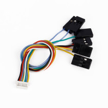 6 in 1 CC3D Flight Controller 8 Pin Connection Cable Set Receiver Port