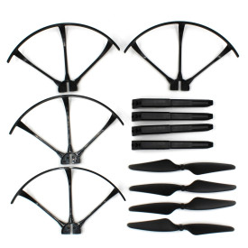 Drone Aircraft Parts Set Spare Propellers Guard Circle High Landing Gear for MJX B3
